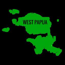 Mapa da província de Papua Ocidental
