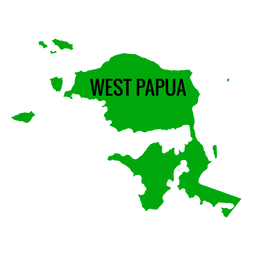 Mapa de la provincia de Papúa Occidental