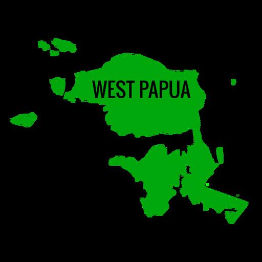 Mapa de la provincia de Papúa Occidental Transparent PNG