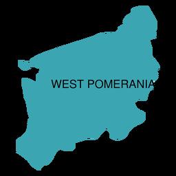 West pomerania voivodeship map