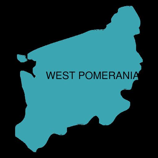 Mapa de voivodato de Pomerania Occidental Transparent PNG