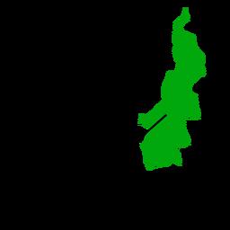 Mapa da província de Sulawesi Ocidental