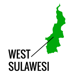 West sulawesi province map