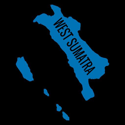 Mapa da província de Sumatra Ocidental Transparent PNG