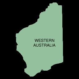 Western Australia State Karte