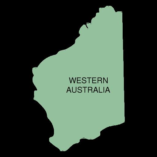 Mapa del estado de australia occidental Transparent PNG