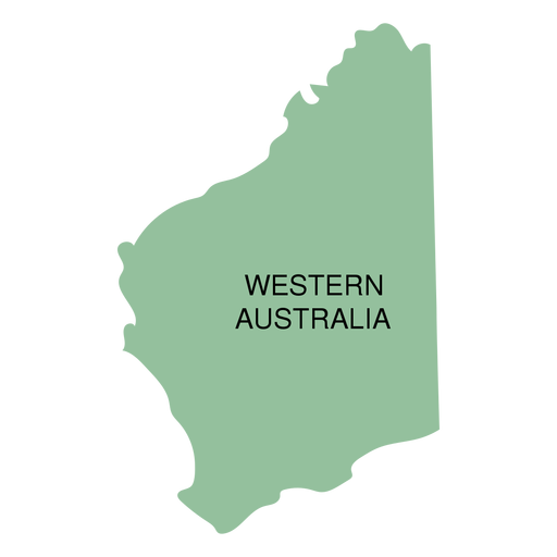 Australia Map Png.Western Australia State Map Transparent Png Svg Vector