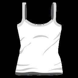 Icono de camiseta sin mangas de damas blancas