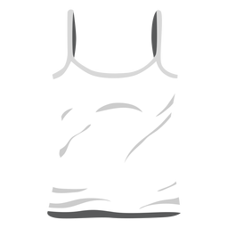 White ladies tank top icon