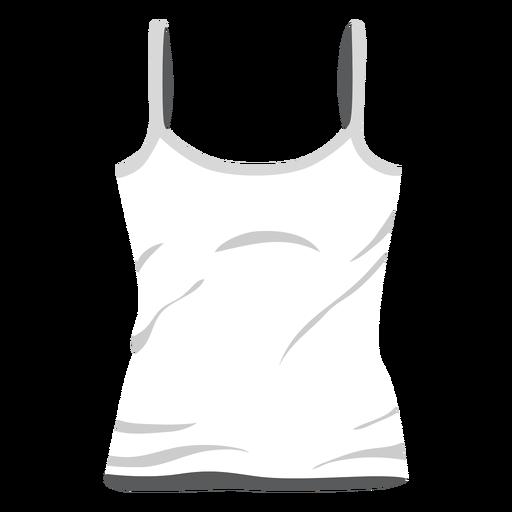 Weiße Damen Tank Top-Symbol Transparent PNG
