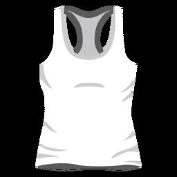 Icono de camiseta sin mangas de hombres blancos