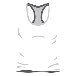 Weiße Männer Tanktop-Symbol