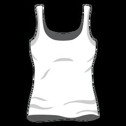 Ícono de camiseta de mujer blanca