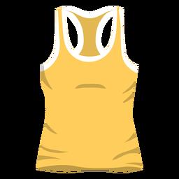 Icono de camiseta sin mangas de hombres amarillo