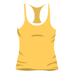 Yellow men tank top icon