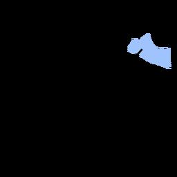 Mapa da província de Yogiakarta