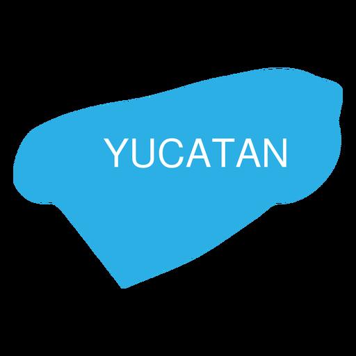 Yucatan state map Transparent PNG