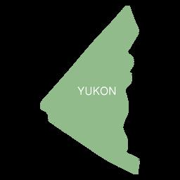 Mapa do território de Yukon
