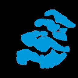 Mapa de la provincia de Zelanda
