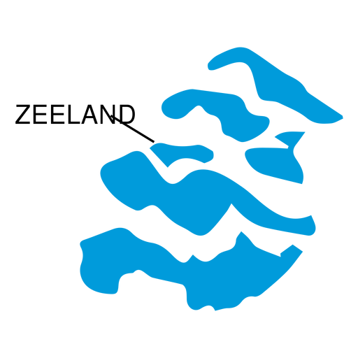 Zeeland province map Transparent PNG