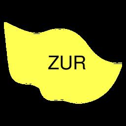 Zug canton map
