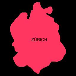 Mapa do Cantão de Zurique