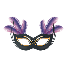 Feather carnival mask