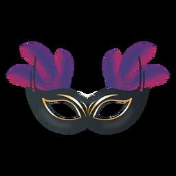 Máscara de carnaval de plumas