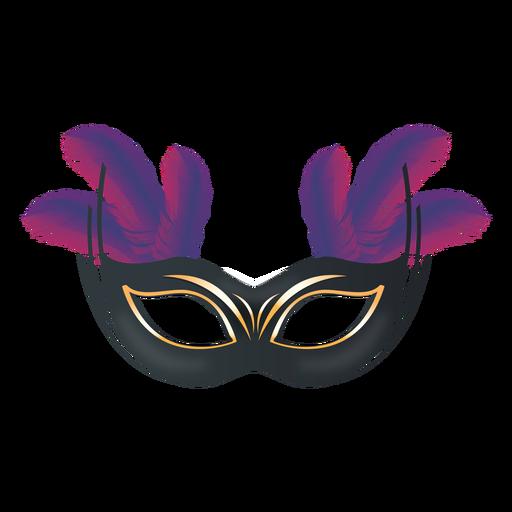 Máscara de carnaval de plumas Transparent PNG