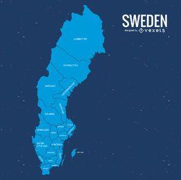 Vector mapa de suecia