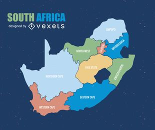 Südafrika-Provinzkarte