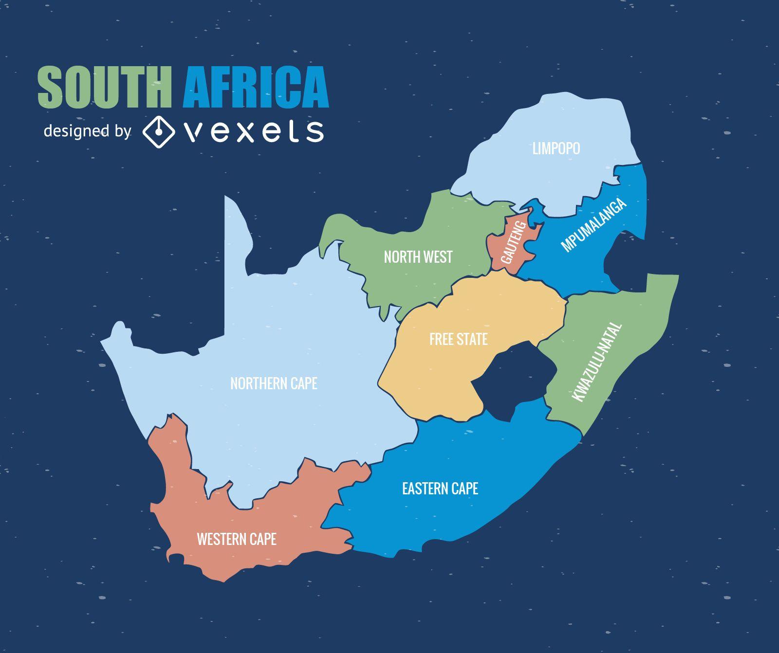 Mapa de la provincia de Sudáfrica