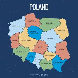 Poland administrative division map