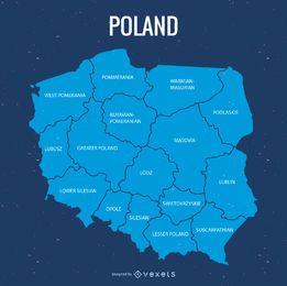 Mapa de la provincia de Polonia