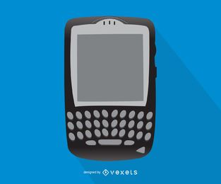 Blackberry smartphone illustration