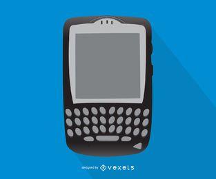 Ilustración de teléfono inteligente de Blackberry