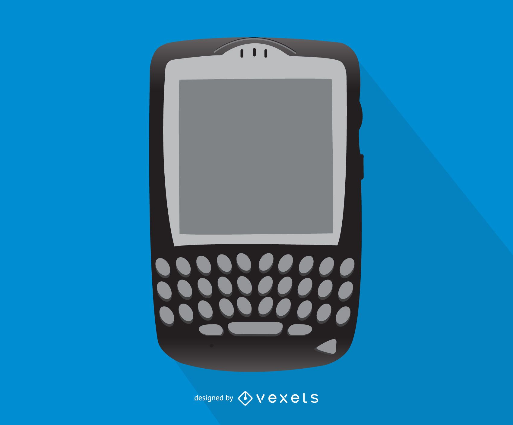 Blackberry smartphone illustration