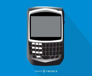 Ilustração de smartphone negrito Blackberry