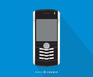 Ilustração de smartphone Blackberry Pearl