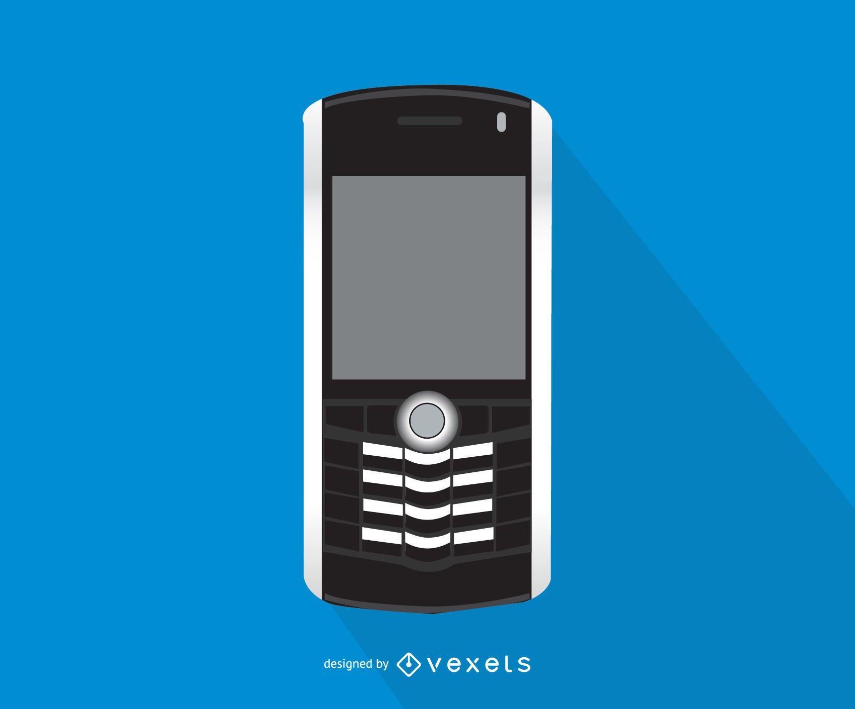Blackberry Pearl smartphone illustration