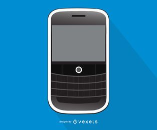 Blackberry Curve smartphone illustration