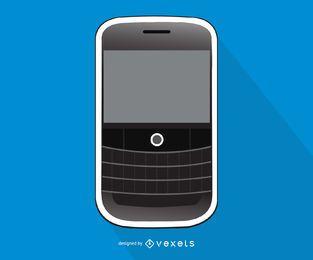 Ilustração de smartphone Blackberry Curve