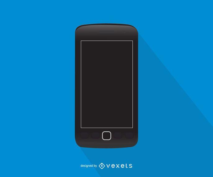 Blackberry Torch phone illustration
