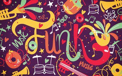Fondo colorido de la música funk