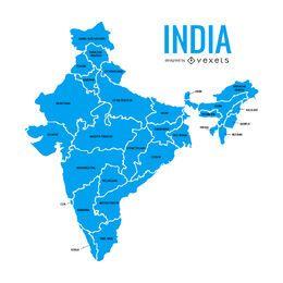 Mapa dos estados da Índia
