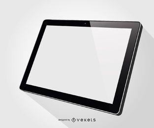 Maquete de ilustração de tablet ipad