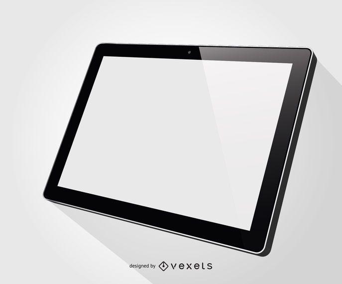 Ipad tablet illustration mockup