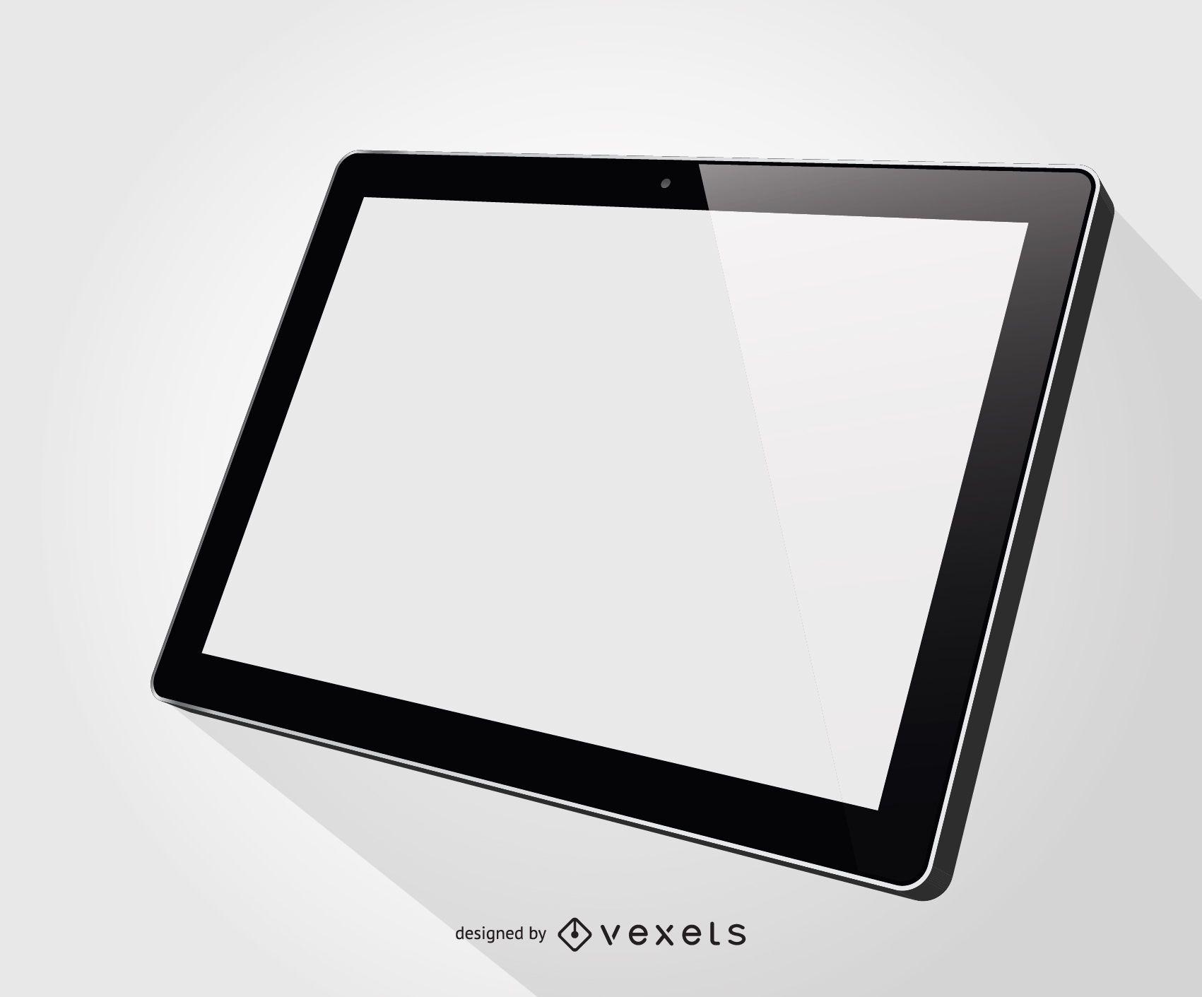 Ilustración en blanco de la tableta Ipad