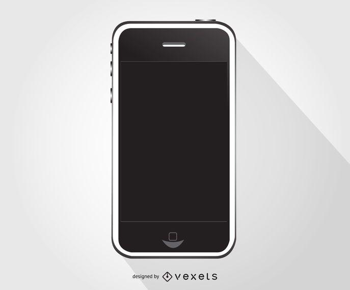 Iphone smartphone illustration