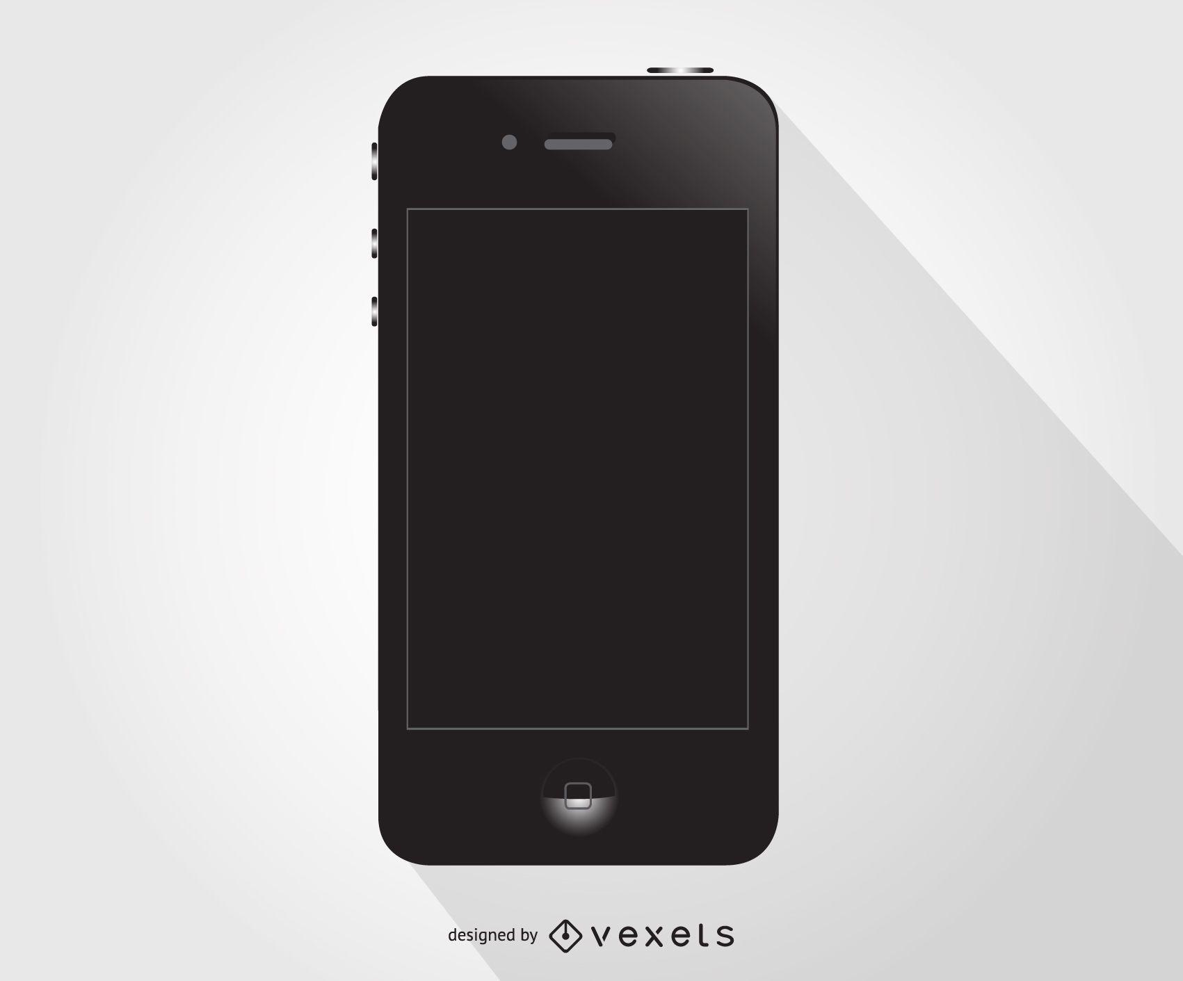 Schwarzer Iphone Vektor